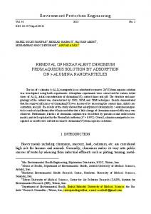 Removal of hexavalent chromium from aqueous solution by ...