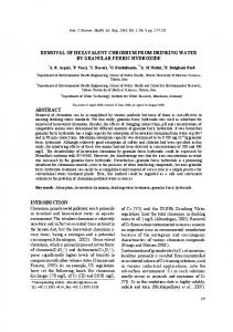 removal of hexavalent chromium from drinking water by granular ferric ...