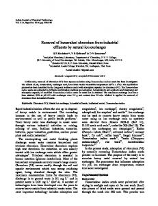 Removal of hexavalent chromium from industrial effluents by natural ...