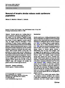 Removal of invasive shrubs reduces exotic earthworm ... - Springer Link
