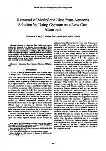 Removal of Methylene Blue from Aqueous Solution by ... - CiteSeerX