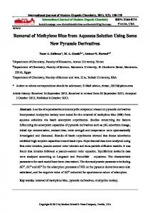 Removal of Methylene Blue from Aqueous Solution