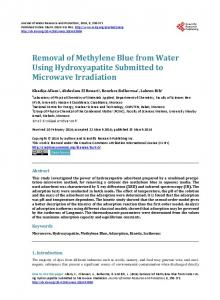 Removal of Methylene Blue from Water Using Hydroxyapatite