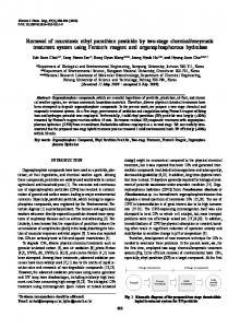 Removal of neurotoxic ethyl parathion pesticide by two-stage chemical ...
