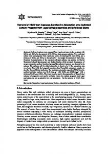 Removal of Ni (II) from Aqueous Solution by ... - Semantic Scholar