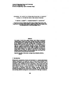 REMOVAL OF NICKEL(II) FROM AQUEOUS SOLUTIONS BY
