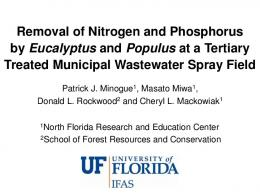 Removal of Nitrogen and Phosphorus by ... - UF Water Institute