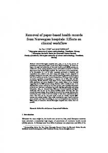 Removal of paper-based health records from Norwegian hospitals ...