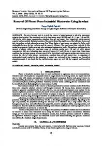 Removal Of Phenol From Industrial Wastewater ... - Research Inventy