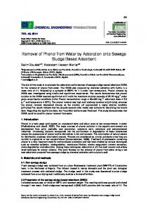 Removal of Phenol from Water by Adsorption onto Sewage ... - aidic