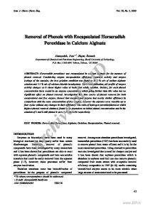 removal of phenols with encapsulated horseradish ... - CiteSeerX