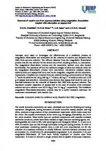 Removal of reactive dye from aqueous solution using coagulation ...