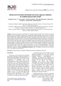 Removal of trivalent chromium ions from aqueous