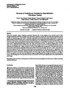 Removal of Waterborne Particles by ... - Semantic Scholar