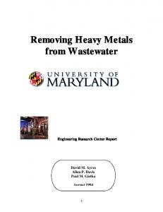 Removing Heavy Metals From Wastewater - Bluevantage