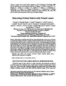 Removing Orbital Debris with Pulsed Lasers - photonic associates, llc