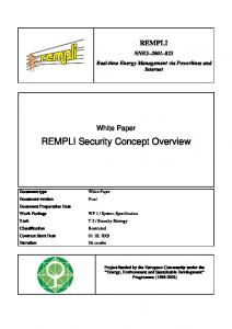 REMPLI Security Concept Overview