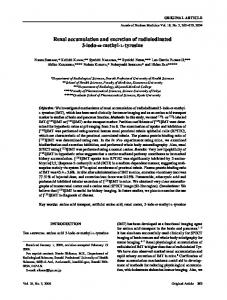 Renal accumulation and excretion of ... - Semantic Scholar