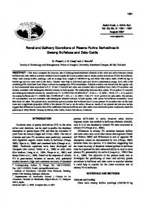 Renal and Salivary Excretions of Plasma Purine Derivatives in Swamp ...