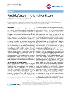 Renal dysfunction in chronic liver disease - BioMedSearch