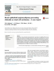 Renal epithelioid angiomyolipoma presenting clinically as renal cell ...