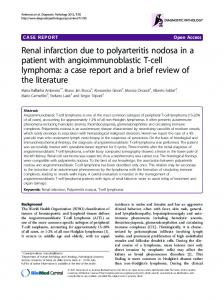 Renal infarction due to polyarteritis nodosa in a patient with ...