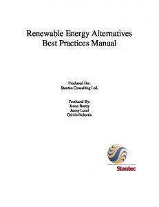 Renewable Energy Alternatives Best Practices Manual