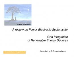 Renewable energy and grid integration challenges