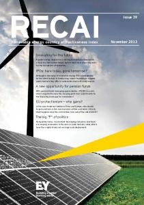 Renewable energy country attractiveness index - Ernst & Young