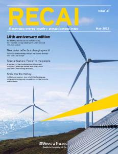 Renewable energy country attractiveness indices - Issue 37