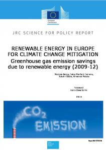 RENEWABLE ENERGY IN EUROPE FOR CLIMATE CHANGE ...