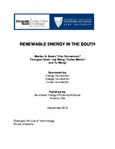 Renewable Energy in the South