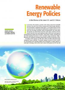 Renewable Energy Policies Renewable Energy Policies