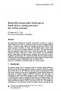 Renewable energy policy landscape in South Africa ... - WIT Press