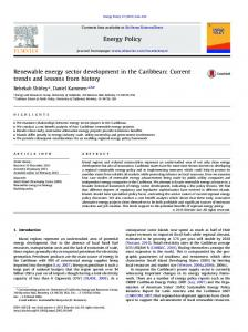 Renewable energy sector development in the Caribbean