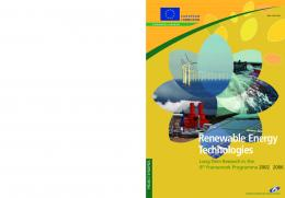 Renewable Energy Technologies - Cordis - Europa EU