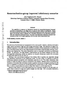 Renormalization-group improved inflationary scenarios