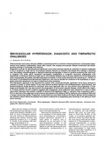 renovascular hypertension: diagnostic and ...