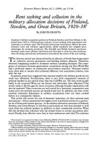 Rent seeking and collusion in the military allocation ... - SSRN papers