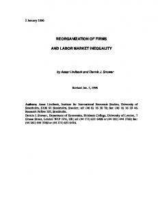 reorganization of firms and labor market inequality - Semantic Scholar