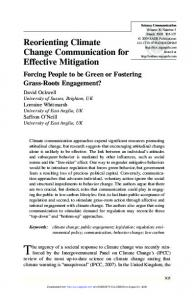 Reorienting Climate Change Communication for Effective Mitigation