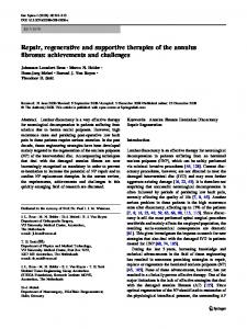 Repair, regenerative and supportive therapies of the ... - Springer Link