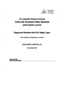 Repayment Burdens with US College Loans (Sep 26, 2010 ... - Core