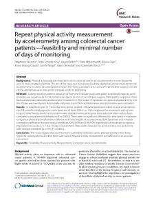 Repeat physical activity measurement by accelerometry ... - CiteSeerX