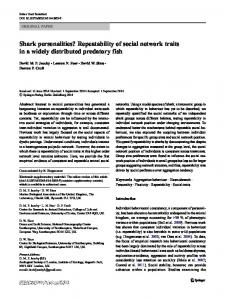 Repeatability of social network traits in a widely ...