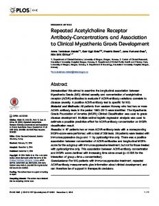 Repeated Acetylcholine Receptor Antibody ... - Semantic Scholar