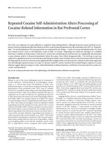 Repeated Cocaine Self-Administration Alters ... - Semantic Scholar