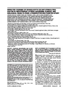 Repeated courses of granulocyte colonystimulating factor in ...