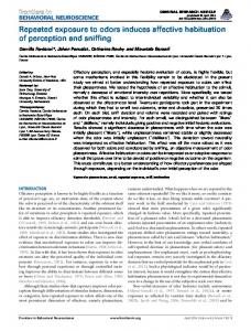 Repeated exposure to odors induces affective ...