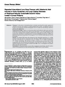 Repeated Intermittent Low-Dose Therapy with Zoledronic Acid ...